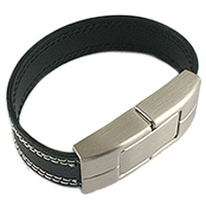 Promotional USB Flash Drive - Leather Wristband