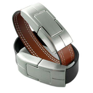 Leather Wristband V2 - Promotional USB Flash Drive