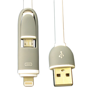 Lightning 2-in-1 USB Retractable V2 - Promotional USB Flash Drive