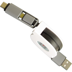 Promotional USB Flash Drive - Type-C 2-in-1 USB Retractable
