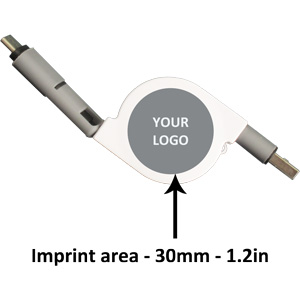 Type-C 2-in-1 USB Retractable Logo Position