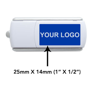 USB Slider Logo Position